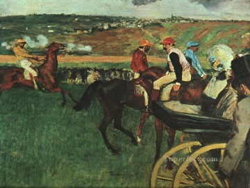 horce races racing Painting - At the Races Edgar Degas