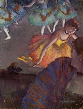 Impressionism Oil Painting - Ballerina and Lady with a Fan Impressionism ballet dancer Edgar Degas