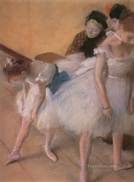 impressionism Painting - Before the Rehearsal 1880 Impressionism ballet dancer Edgar Degas