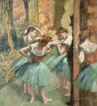 Dancers Pink and Green Edgar Degas Oil Paintings