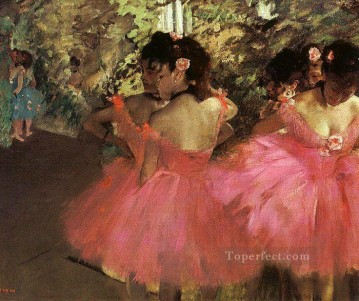 Dancers in Pink Impressionism ballet dancer Edgar Degas Decor Art