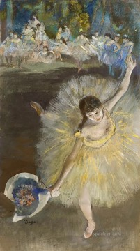 Finishing the arabesque Edgar Degas Oil Paintings