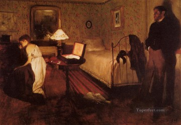 pres Painting - Interior aka The Rape Impressionism ballet dancer Edgar Degas