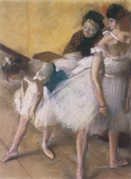 Impressionism Oil Painting - The Dance Examination Impressionism ballet dancer Edgar Degas