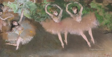 ballet Painting - Three Ballet Dancers Edgar Degas