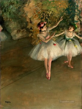 Edgar Degas Painting - Two Dancers on Stage Edgar Degas