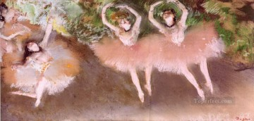 ballet scene on stage Edgar Degas Oil Paintings