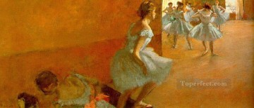 Edgar Degas Painting - dancers climbing the stairs Edgar Degas