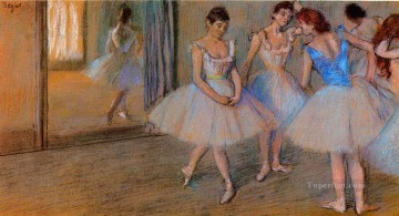 Edgar Degas Painting - dancers in a studio Edgar Degas