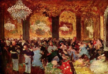 Edgar Degas Painting - dinner at the ball 1879 Edgar Degas