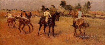 Edgar Degas Painting - four jockeys Edgar Degas