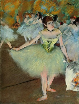 Edgar Degas Painting - on stage Edgar Degas