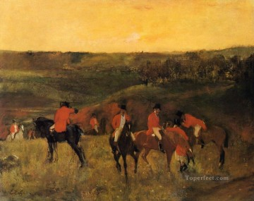 Edgar Degas Painting - the start of the hunt Edgar Degas