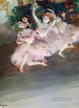 ballet Painting - three ballet dancers 1879 Edgar Degas