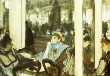 Edgar Degas Painting - women on a cafe terrace 1877 Edgar Degas