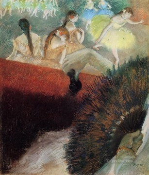 Impressionism Oil Painting - At the Ballet Impressionism ballet dancer Edgar Degas