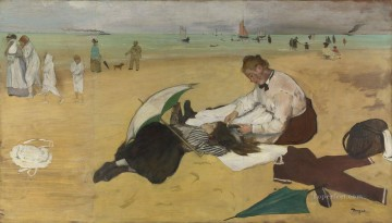 At the Beach Edgar Degas Oil Paintings