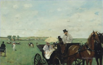 horce races racing Painting - At the Races in the Country Edgar Degas