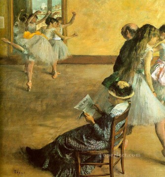 Ballet Class Impressionism ballet dancer Edgar Degas Oil Paintings
