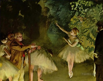 Ballet Rehearsal Impressionism ballet dancer Edgar Degas Oil Paintings