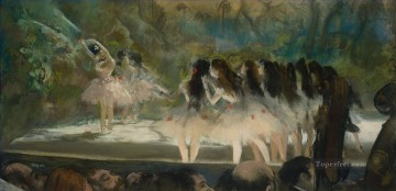 Impressionism Art Painting - Ballet at the Paris Opera Impressionism ballet dancer Edgar Degas