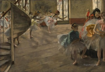 Edgar Degas Painting - ballet dancers grey Edgar Degas