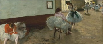 Edgar Degas Painting - dance lesson Edgar Degas
