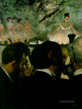 Edgar Degas Painting - musicians in the orchestra 1872 Edgar Degas