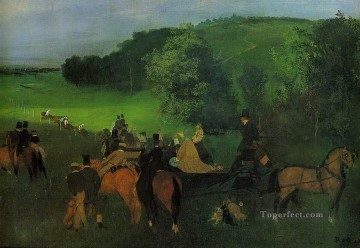 Edgar Degas Painting - on the racecourse Edgar Degas