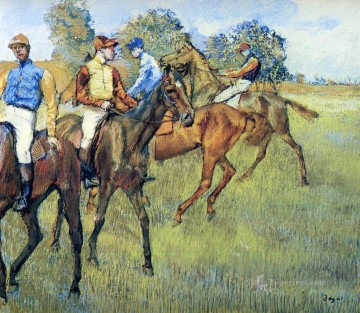 race horses Edgar Degas Oil Paintings