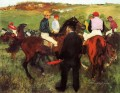 racehorses at longchamp 1875 Edgar Degas