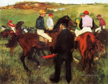 racehorses at longchamp 1875 Edgar Degas Oil Paintings
