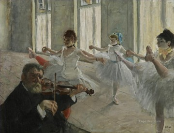 rehearse violin Edgar Degas Oil Paintings