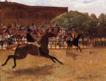Edgar Degas Painting - the false start Edgar Degas