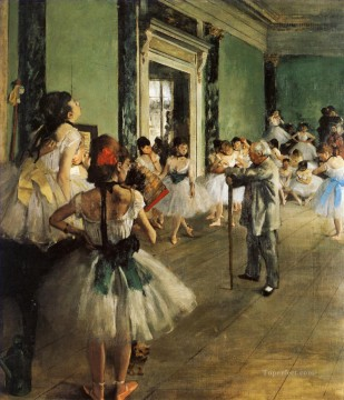 Impressionism Oil Painting - dance class Impressionism ballet dancer Edgar Degas