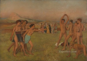 spartan girls challenging boys 1860 Edgar Degas Oil Paintings