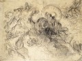 Apollo Slays Python sketch Romantic Eugene Delacroix