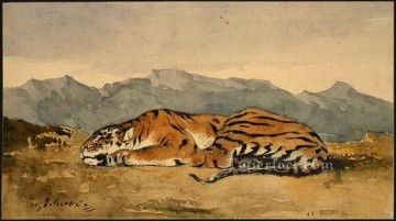 tiger 1830 Eugene Delacroix Oil Paintings