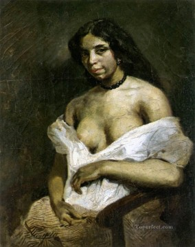 Aspasia Romantic Eugene Delacroix Oil Paintings