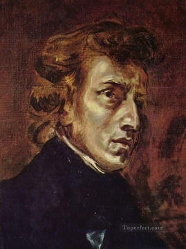 Romantic Painting - Frederic Chopin Romantic Eugene Delacroix