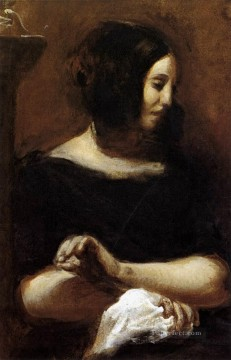 Romantic Painting - George Sand Romantic Eugene Delacroix