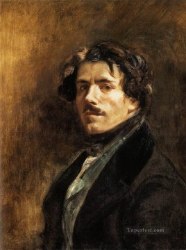Self Portrait Romantic Eugene Delacroix Oil Paintings