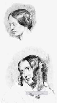 Study for Jenny Le Guillou and Josephine de Forget Romantic Eugene Delacroix Oil Paintings