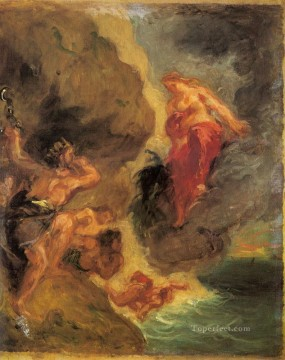 Romantic Works - Winter Juno And Aeolus Romantic Eugene Delacroix