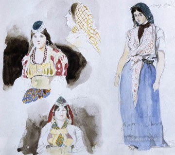 Moroccan Women Romantic Eugene Delacroix Oil Paintings
