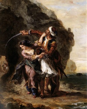 by Works - The Bride of Abydos Romantic Eugene Delacroix