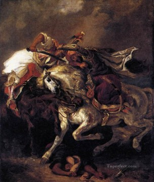 Combat of the Giaour and the Pasha Romantic Eugene Delacroix Oil Paintings