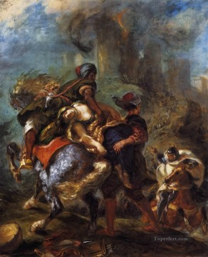 The Abduction of Rebecca Romantic Eugene Delacroix رسم زيتي