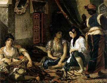 Eugene Delacroix Painting - The Women of Algiers Romantic Eugene Delacroix