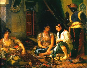 Romantic Painting - algiers Romantic Eugene Delacroix